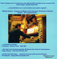 Grand Hall Organ Cd Back Cover