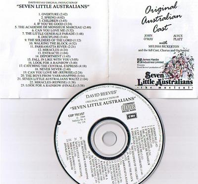 Original Cast recording Seven Little Australians