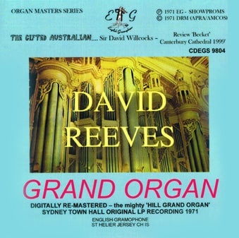 David Reeves Grand Organ Sydney Town Hall 1971 Re Mastered